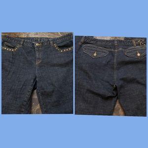 Michael Kor Dark Wash Studded Jean Size 14